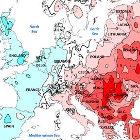 Europe : baisse des températures à l'Ouest mais hausse à l'Est
