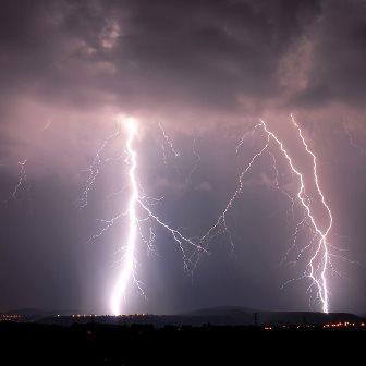 Forts orages au Sud des Pyrénées au Languedoc Roussillon