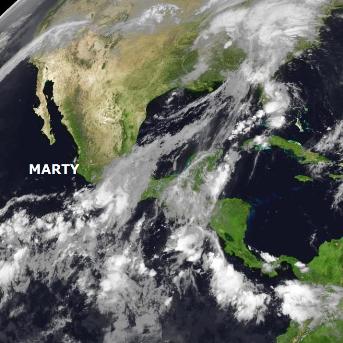 Ouragan Marty au large du Mexique