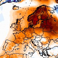 Douceur exceptionnelle autour de la Baltique sur le Nord de l'Europe