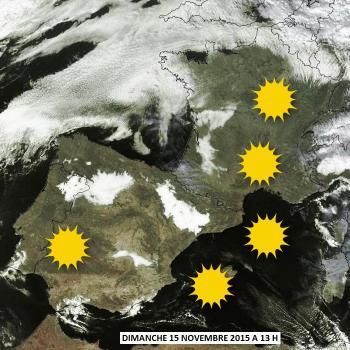 Un dimanche ensoleillé - Chaleur tardive remarquable au Sud