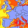 Température de l'eau anormalement élevée en Europe