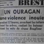 Tempête meurtrière en plein été les 7 / 8 août 1948