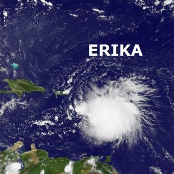 Tempête tropicale Erika sur les Antilles