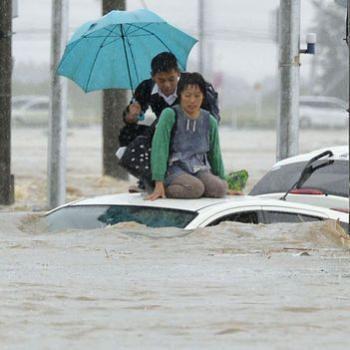 Tempête tropicale Etau - Inondations et coulées de boue au Japon