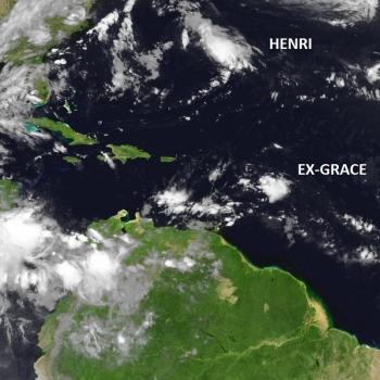 Tempêtes tropicales Grace et Henri sur l'Atlantique
