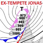 L'ex tempête de neige Jonas se dirige vers l'Europe