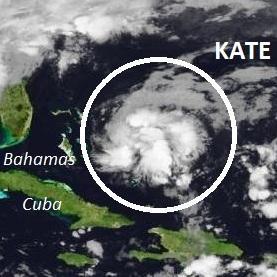 Après les inondations en Martinique, tempête Kate aux Bahamas