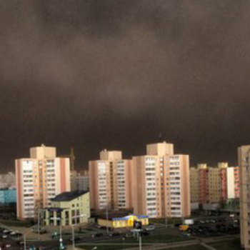 Tempête de poussière en Ukraine et en Biélorussie