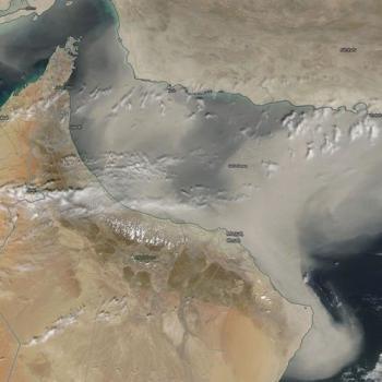 Forte tempête de sable à Oman