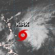 Tempête tropicale Kirk sur les Antilles