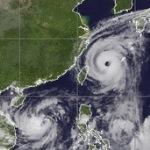 Deux typhons entre Philippines, Chine, Laos, Vietnam & Japon