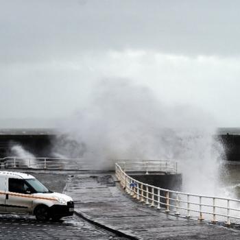 Fort coup de vent sur le Nord Pas de Calais en marge de la tempête Barney