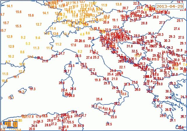 Image d'illustration pour Chaud et froid lundi autour de la Méditerranée