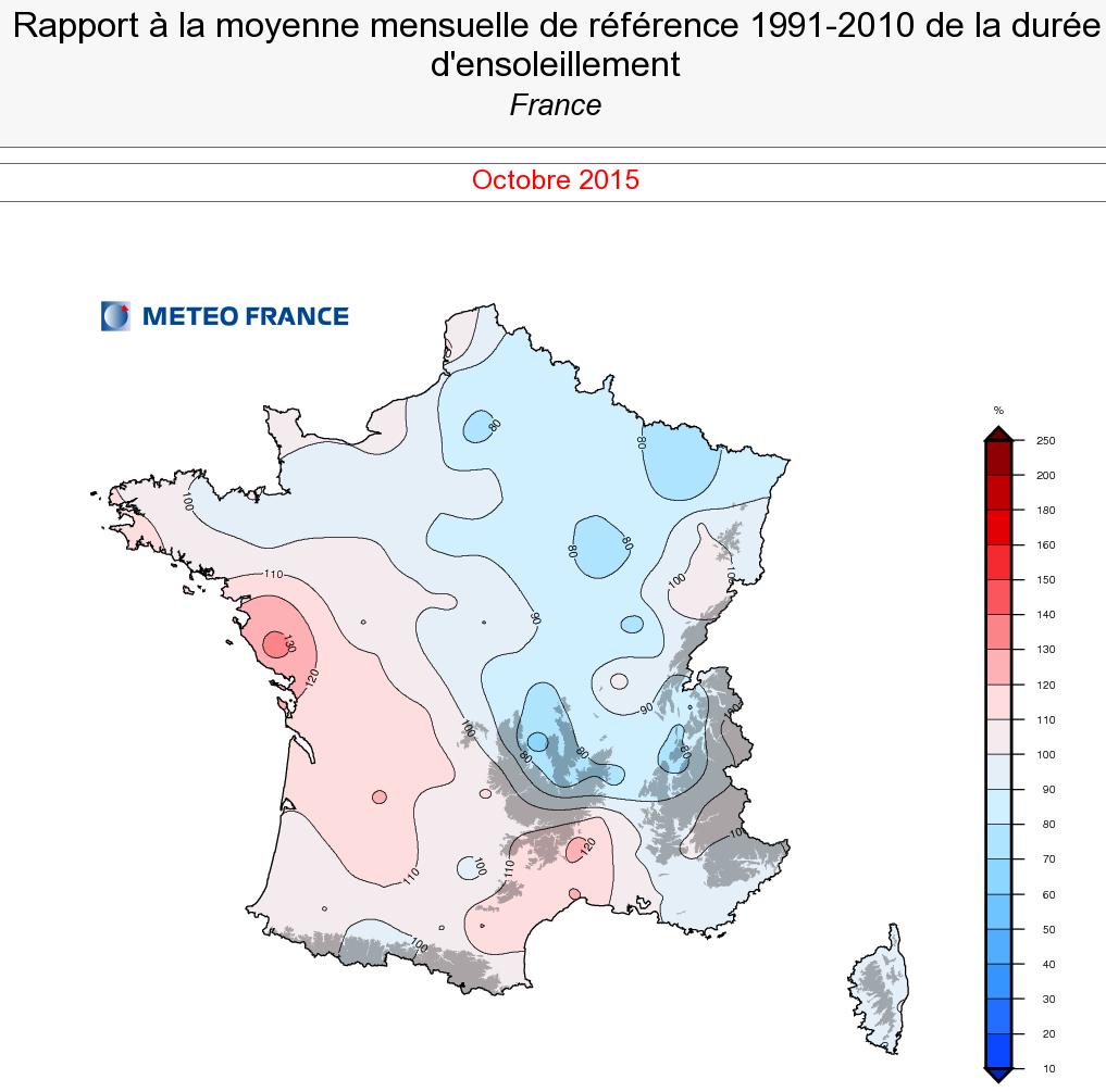 Image d'illustration pour Bilan d'octobre 2015 : frais, souvent sec et inégalement ensoleillé