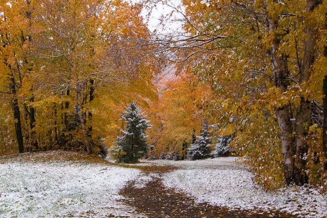 Image d'illustration pour Premières neiges de la saison au Québec