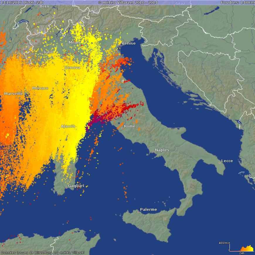 Immagine illustrativa per i temporali violenti in Corsica: 28 feriti dopo il crollo di un tendone