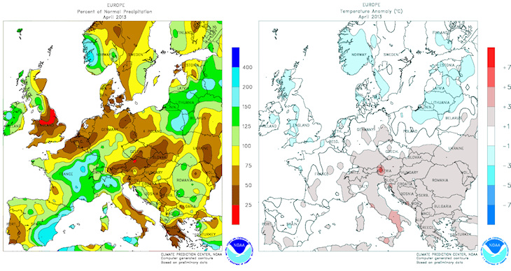 Image d'illustration pour Bilan météo de mai 2013 en France et en Europe