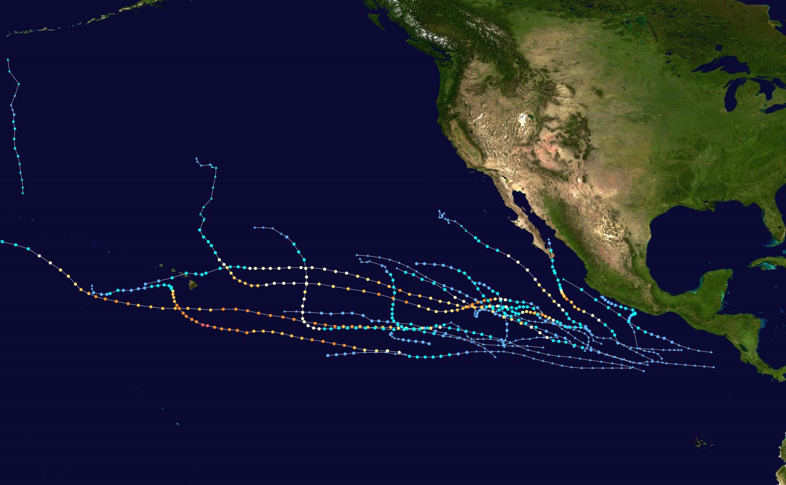 Image d'illustration pour Saison cyclonique 2018 : activité remarquable sur le bassin Pacifique