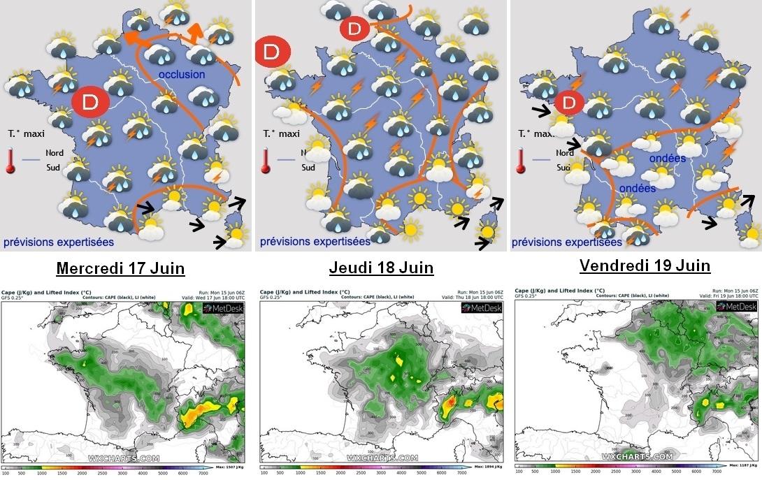 Image d'illustration pour Goutte froide Nadine : Nombreuses averses orageuses cette semaine