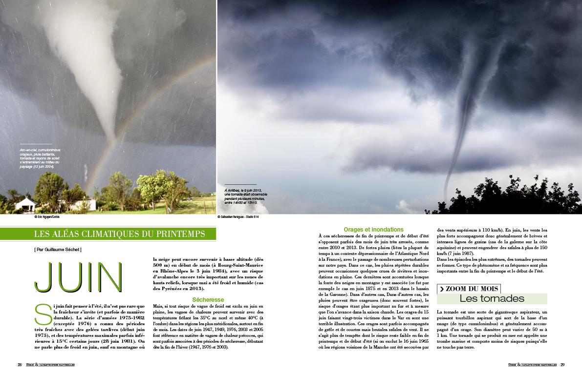 Image d'illustration pour CLIMAT & CATASTROPHES NATURELLES : premier magazine météo grand public