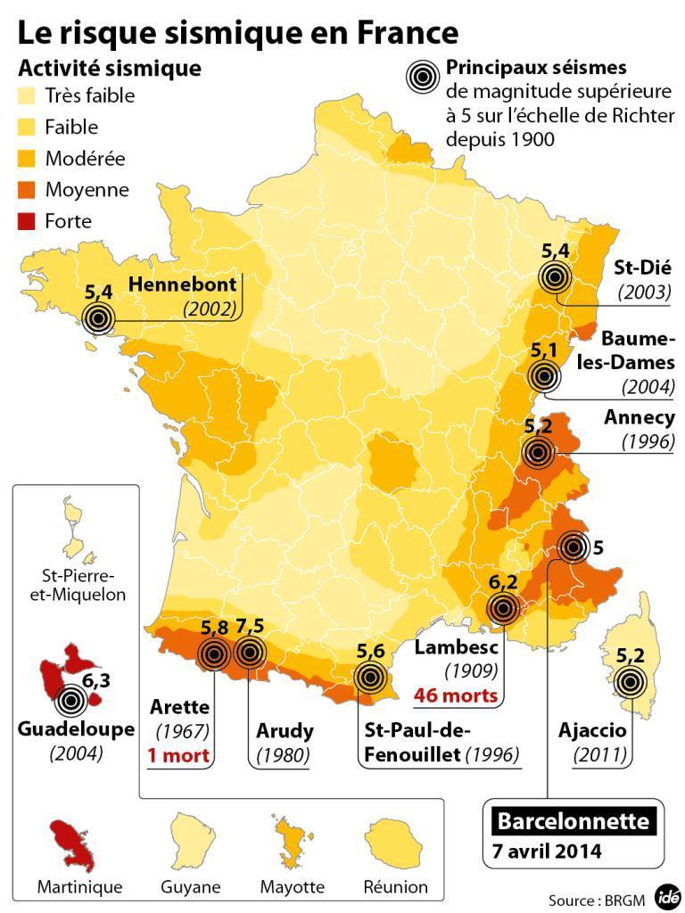 Image d'illustration pour Séisme près de Montélimar - est-ce fréquent en France?