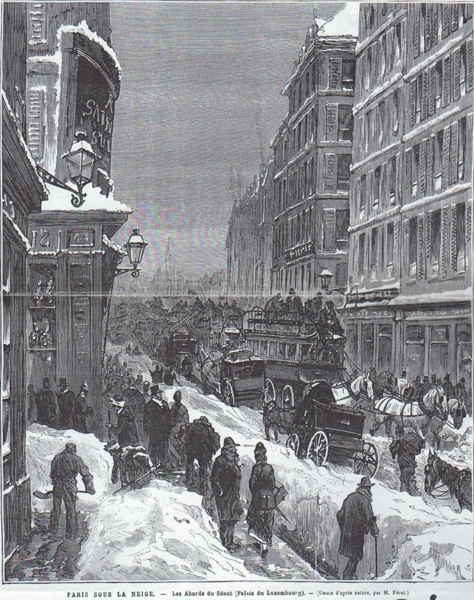 Image d'illustration pour Paris dans le froid, la neige et la glace en décembre 1879
