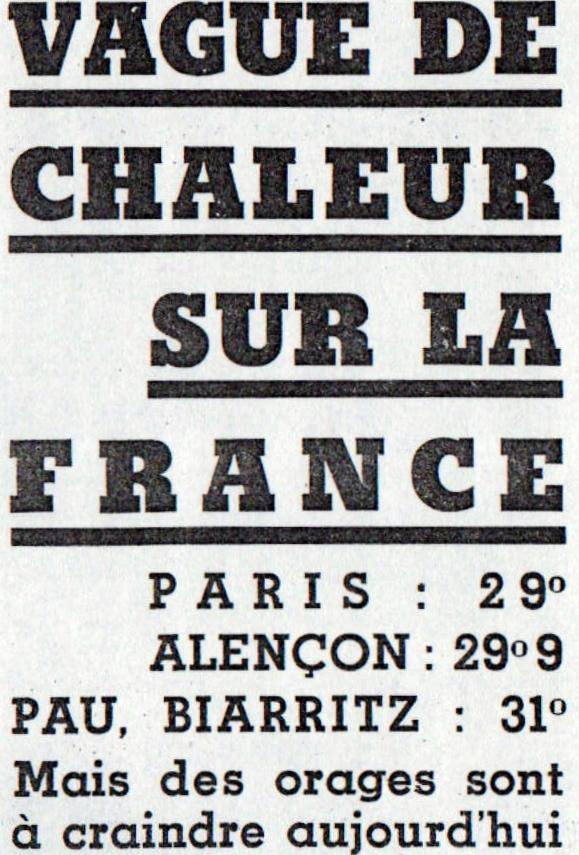 Image d'illustration pour Chaleur au mois de mai : des événements marqués dans le passé