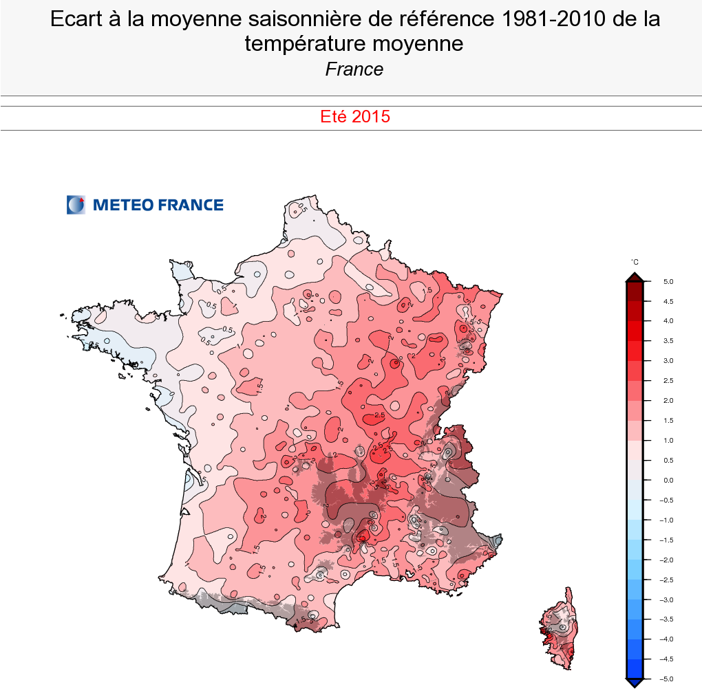 Image d'illustration pour Pré-bilan de l'été 2015 : souvent très chaud, sec et ensoleillé