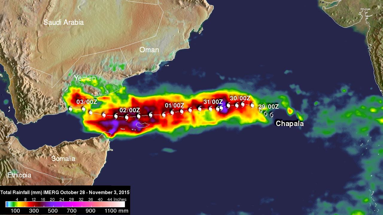 Image d'illustration pour Cyclone Chapala : intensité rare en Mer d'Arabie et risque pour le Yémem