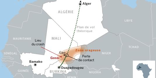 Image d'illustration pour Crash de l'avion AH5017 d'Air Algérie au Nord du Mali - la météo en cause ?