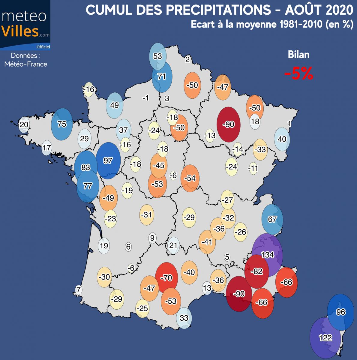Image d'illustration pour Août 2020 : 3e mois d'août le plus chaud en France depuis 1900