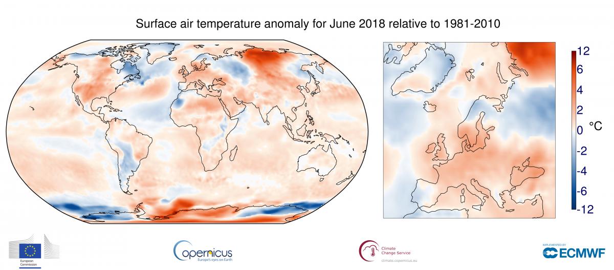 Image d'illustration pour Juin 2018 au 2e rang les plus chauds dans le monde