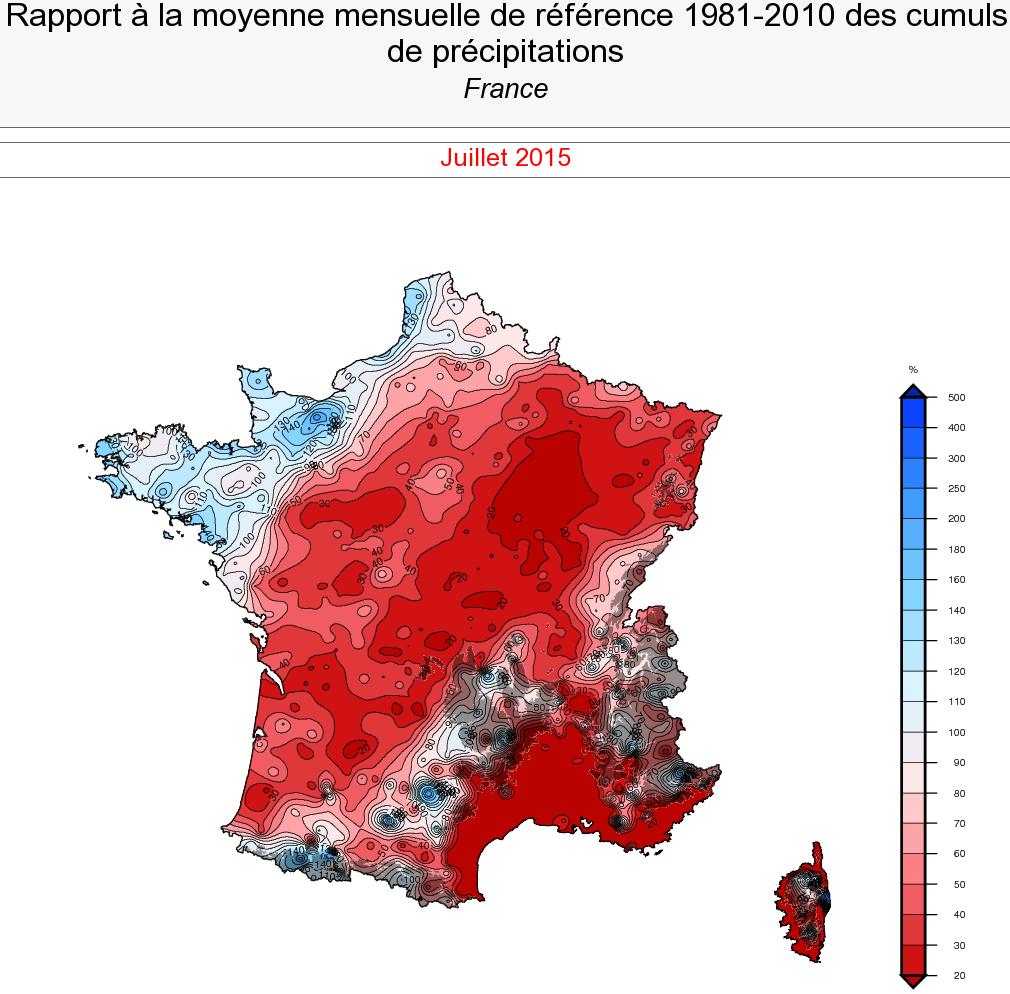 Image d'illustration pour Pré-bilan : un mois de juillet très chaud, sec et ensoleillé