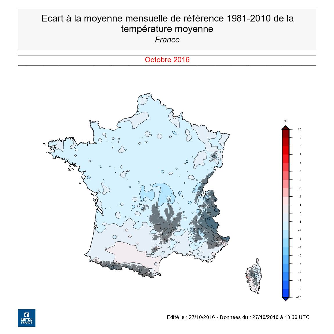 Image d'illustration pour Pré-bilan d'octobre 2016 : plus sec et frais que la normale