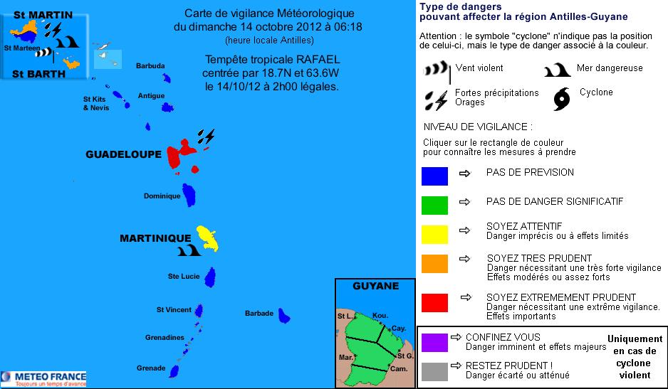 Tempête tropicale Rafael : Alerte rouge en Guadeloupe   14 octobre
