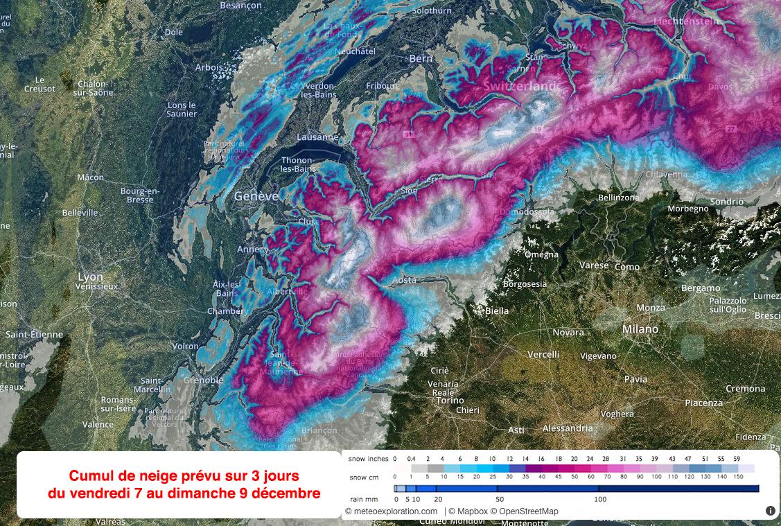 Image d'illustration pour Coup de vent, neige en montagne : fin de semaine dans l'agitation