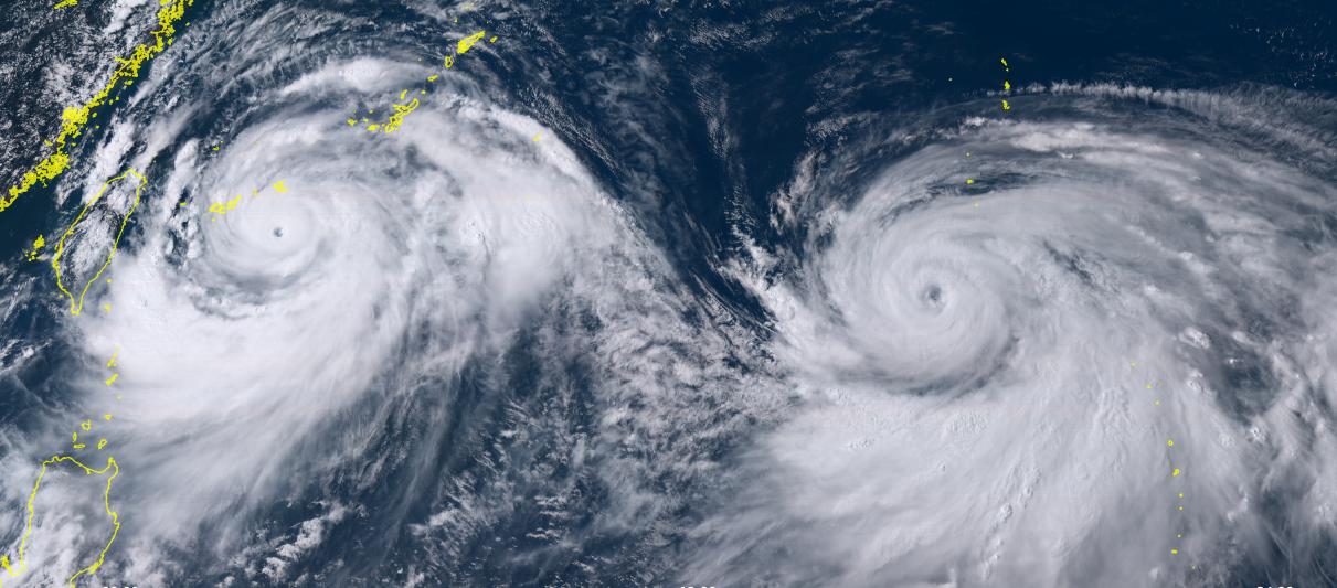 Image d'illustration pour Typhons Lekima et Krosa : l'océan Pacifique Nord-Ouest s'agite