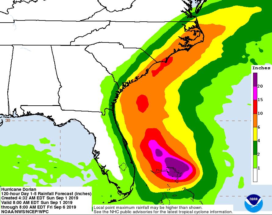 Image d'illustration pour Ouragan Dorian : menace majeure entre Bahamas et Floride