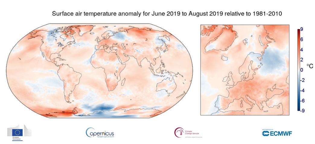 Image d'illustration pour Été 2019 : un record historique de chaleur dans le Monde