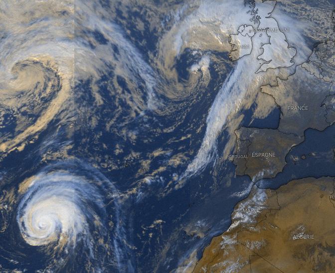 Image d'illustration pour Lorenzo, le cyclone des Açores à l'approche de l'Europe