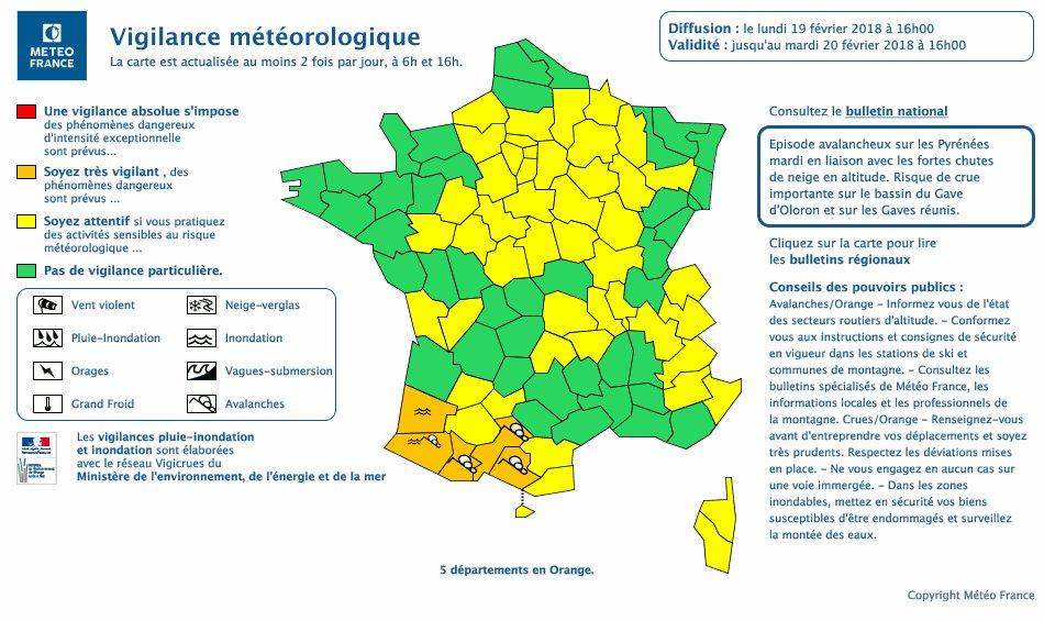 Image d'illustration pour Crue, neige et avalanches : les Pyrénées à risque ce mardi