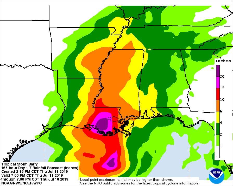 Image d'illustration pour Barry : premier ouragan de la saison dans le bassin Atlantique