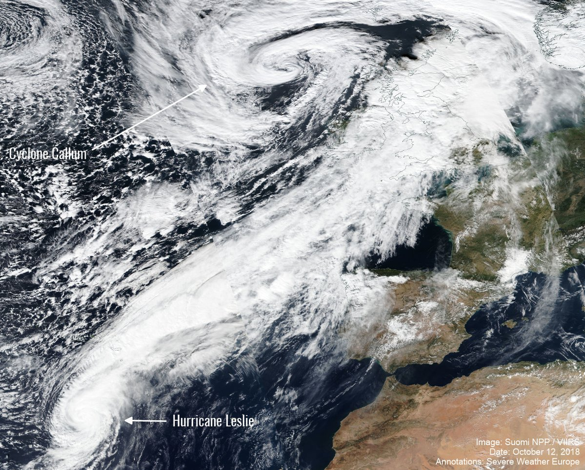 Image d'illustration pour Est-il possible de voir un ouragan tropical frapper l'Europe?