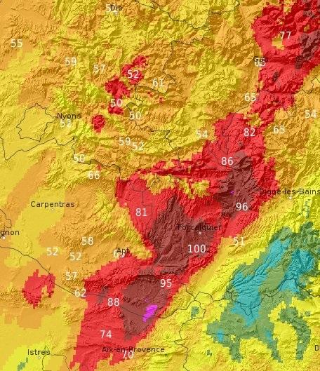 Image d'illustration pour Violentes intempéries dans le Sud-Est - le bilan