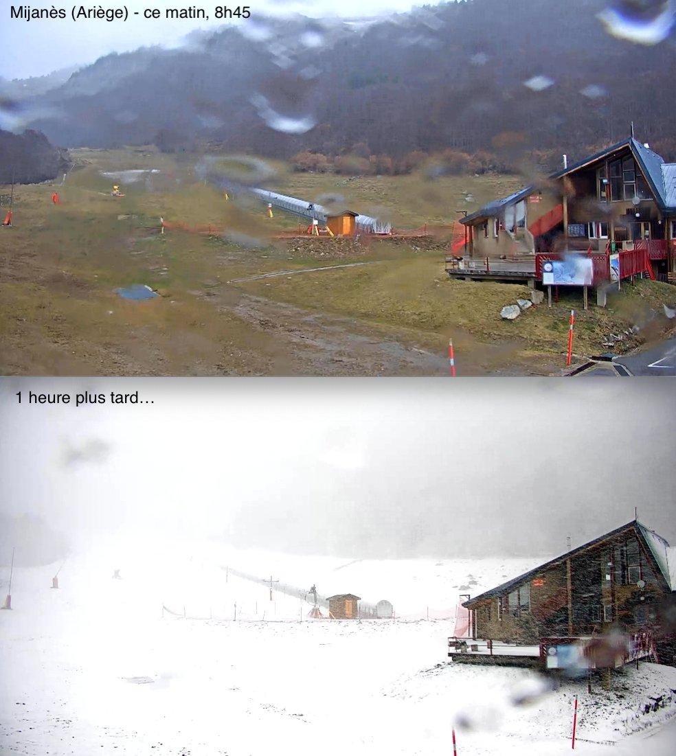 Image d'illustration pour Enneigement en montagne : Retour de conditions hivernales sur les massifs