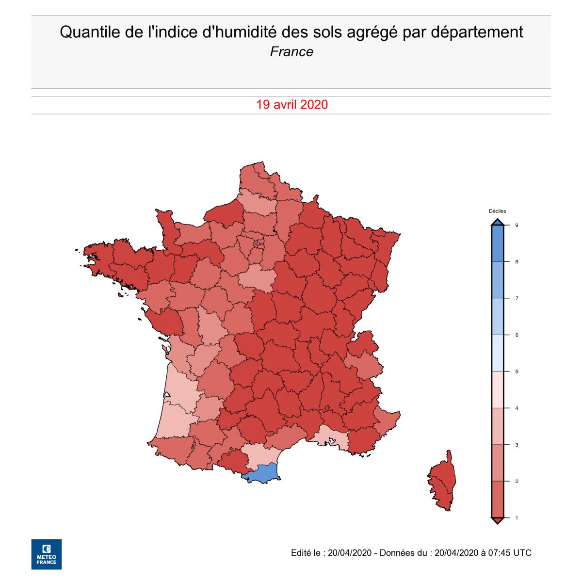 Image d'illustration pour Le point sur la sécheresse en France en cette mi-Avril
