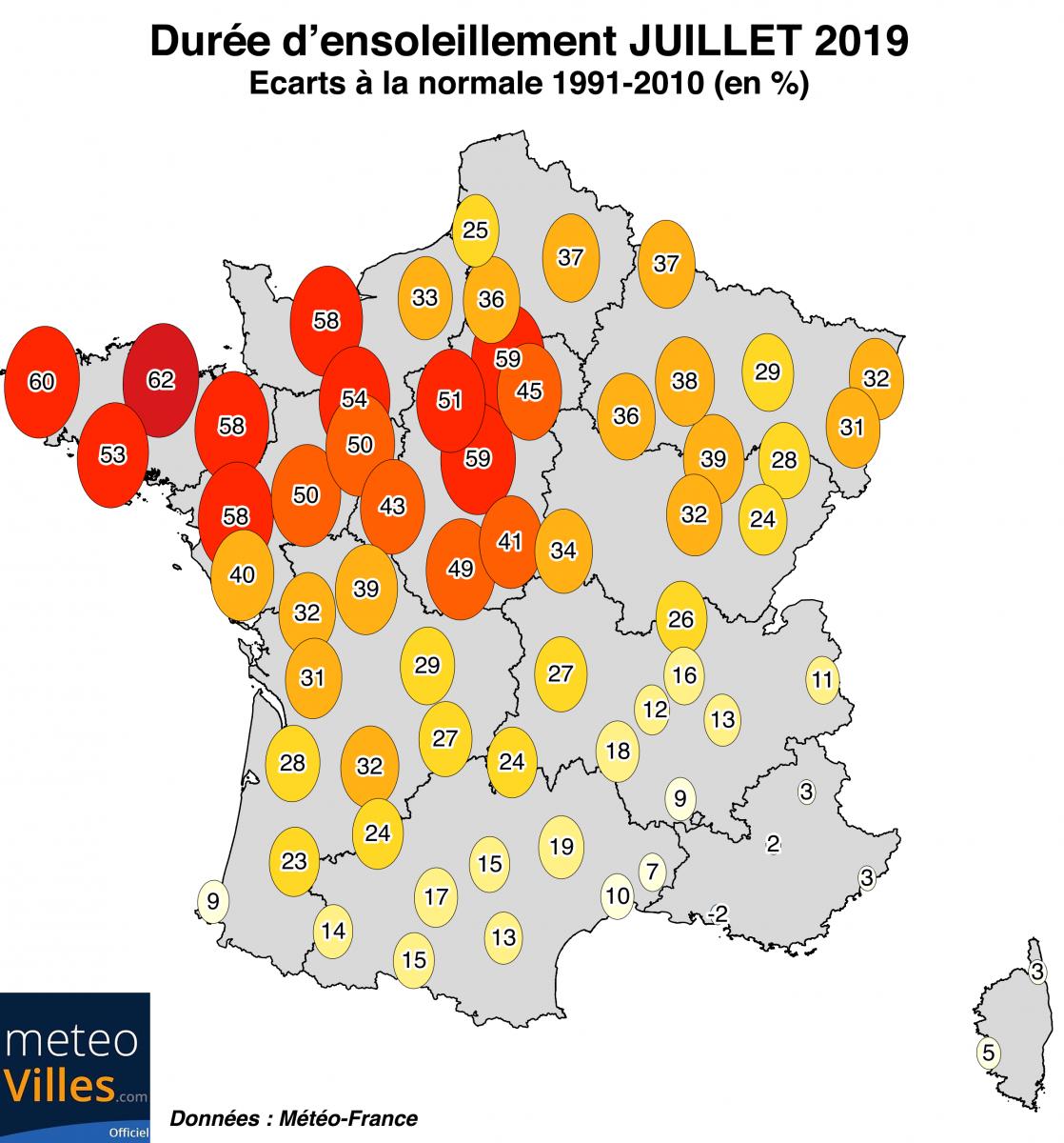 Image d'illustration pour Très chaud, sec et ensoleillé : le bilan national de juillet 2019