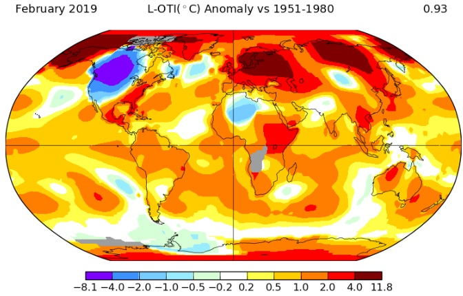 Image d'illustration pour Le trimestre Décembre -Janvier - Février 3ème le plus chaud dans le monde