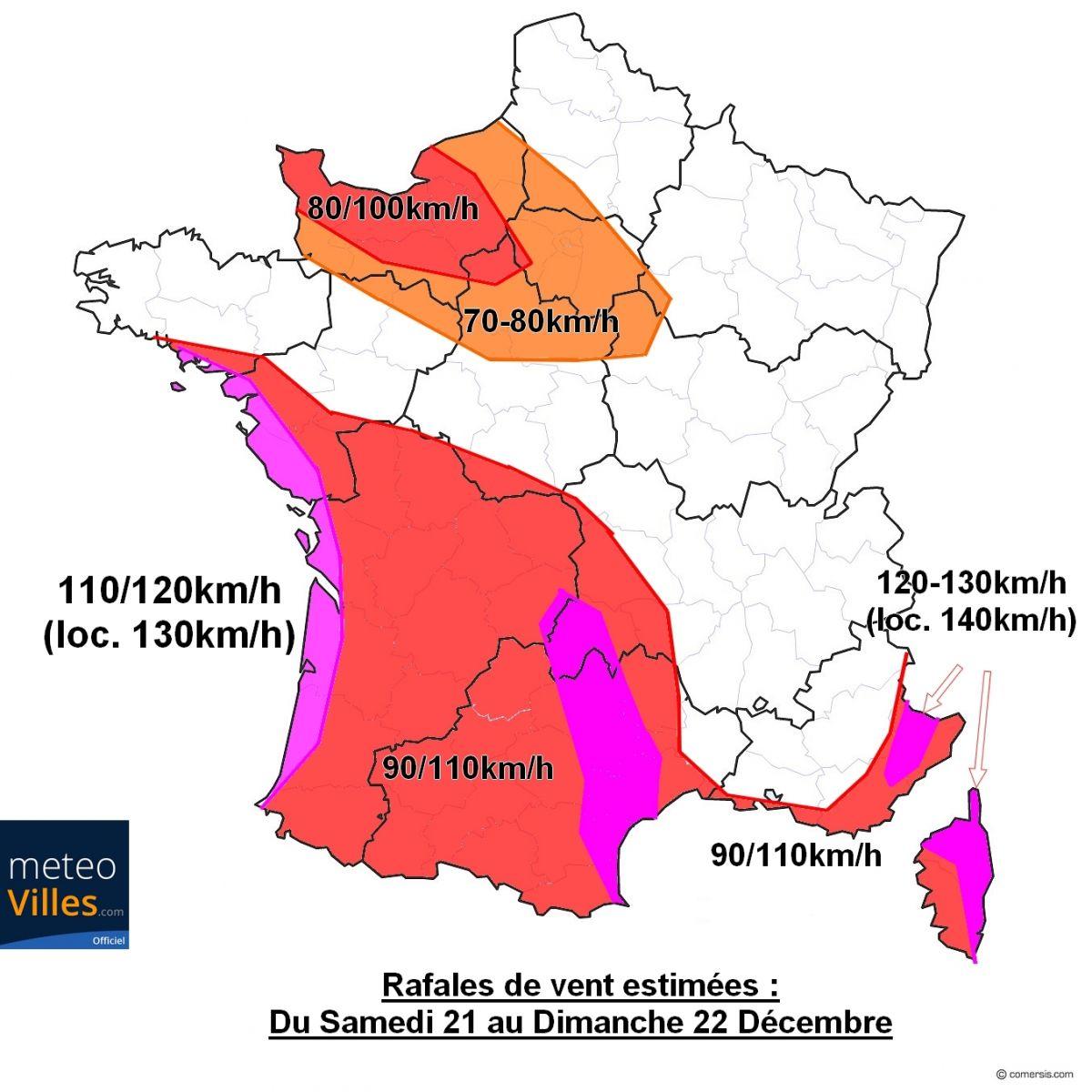 Image d'illustration pour Nouveau risque de tempête sur la France ce week-end